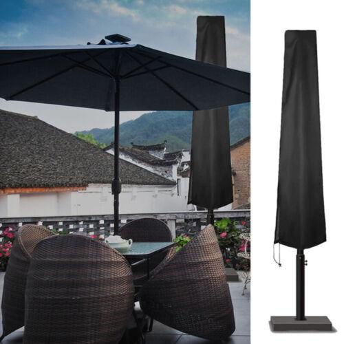 Black S//M//L Heavy Duty Parasol Sun Umbrella Cover  Outdoor Patio Garden Parasol