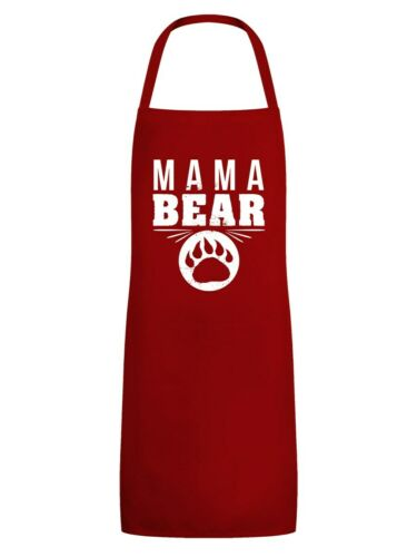 Tablier Mama Ours Rouge pour Femme