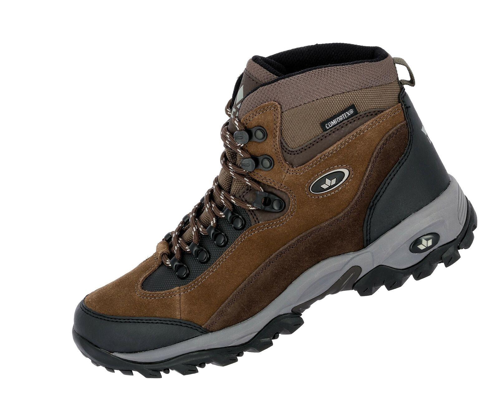 Lico trekking botas milan noté Al aire libre con  cordones gamuza de cuero marrón  liquidación hasta el 70%
