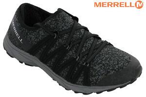 Site Officiel Merrell Riveter Tricot Maille Baskets Pour Femme Trails Chaussures Noires à Lacets Femme Nouveau-afficher Le Titre D'origine