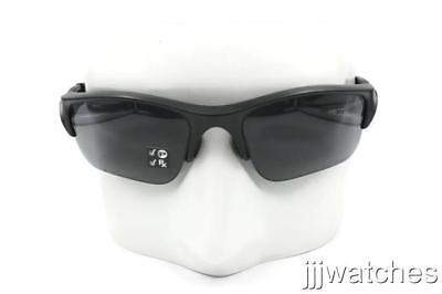 49bae20543 New Oakley Flak Jacket XL J Matte Black Gray Polarized Sunglasses 11-435   193