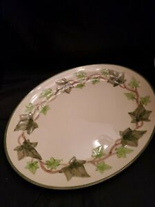 """FRANCISCAN ☆ Ivy Leaf ☆ 13"""" Oval Serving Platter ☆ Made in USA Backstamp"""
