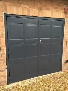 Anthracite Grey Or Black Side Opening Garage Door Steel