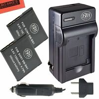 Bm Np-bn1 2x Batteries & Charger For Sony Cybershot Dsc-wx50,wx70,wx80,wx9,qx30