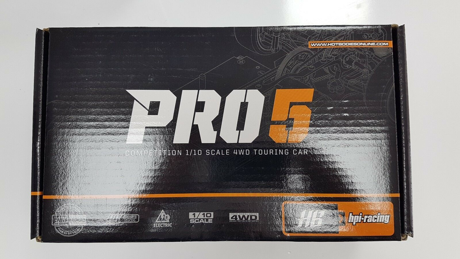 HB RACING PRO 5 1 10 COMPETITION TOURING CAR NIB - FREE SHIPPING