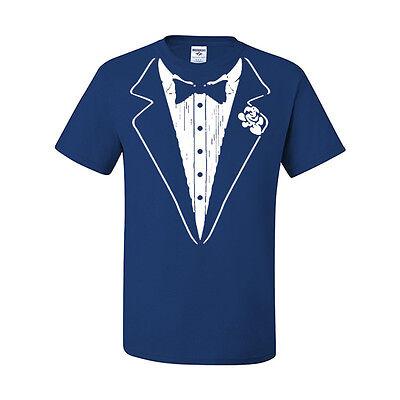 Tuxedo T-shirt Funny Wedding Prom Bachelor Party Tee Shirt Groom Gift Costume
