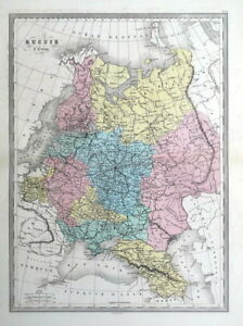 Lithuania On Europe Map.Russia In Europe Ukraine Lithuania Latvia Malte Brun Antique