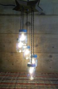 Details About Texas Star Chandelier 5 Mason Jar Light Fixture Rustic U Choose
