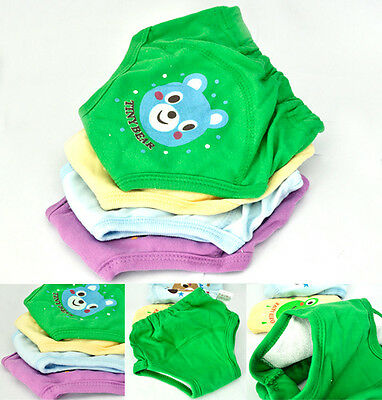 Hot 4X Baby Toddler Girls Boys 4 Layers Waterproof Potty Training Pants Reusable