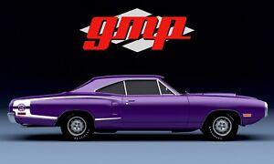 Gmp Nouveau Outillage 1970 Dodge Super Bee Plum Fou 1:18 Prè-commande Le Mib