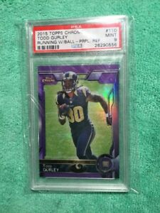 2015-TOPPS-CHROME-PURPLE-RC-REFRACTOR-TODD-GURLEY-PSA-MINT-9