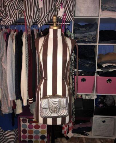 Henri Bendel Silver Convertible Bag