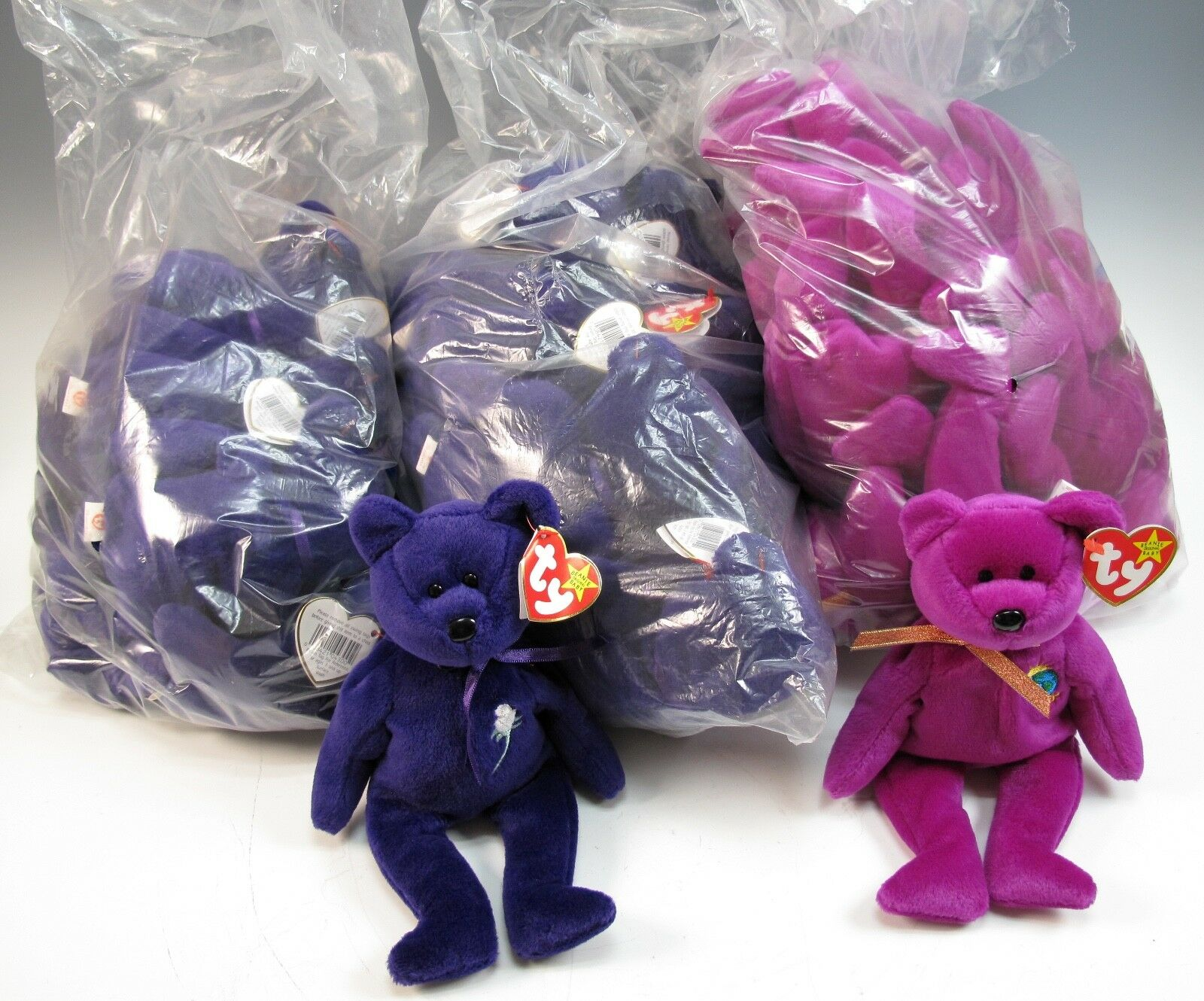 Old Beanie Baby Collection with Lots of Princess and Millennium