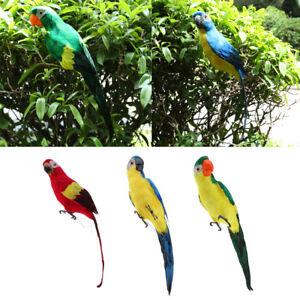 3pcs Gran Pájaro Loro Decorativo Accesorios de Motosierras Jardín