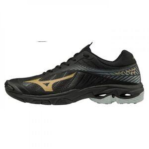 Détails sur Mizuno WAVE LIGHTNING Z4 Or Noir Hommes Volley ball Chaussures V1GA180050 afficher le titre d'origine