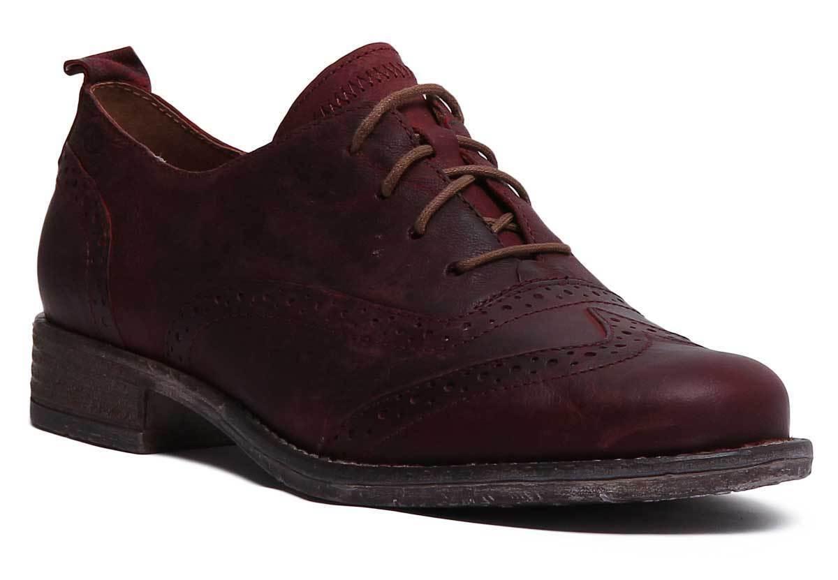 Josef Seibel Sienna 89 Femme Lacets en en en Cuir Bordo Richelieu à Chaussures Taille UK 3 - 8 4c7b10