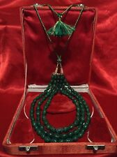 ANTIQUE MUSEUM LARGE 611 CT FINEST NATURAL MINED ZAMBIAN EMERALD NECKLACE LUXURY