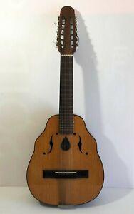 Ravissement Ancien Luth Vintage An 60's Modèle Vitato Made In Spain Guitare Mandoline Gagner Une Grande Admiration