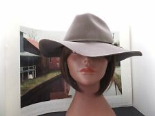 WOMANS FLOPPY BRIM CASUAL  DRESS  HAT  LITE FELT  COLOR  BROWN  7 3/8 LARGE