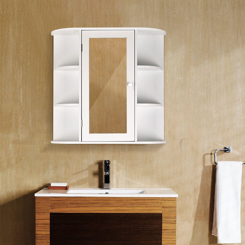 Wood Bathroom Storage Medicine Cabinet