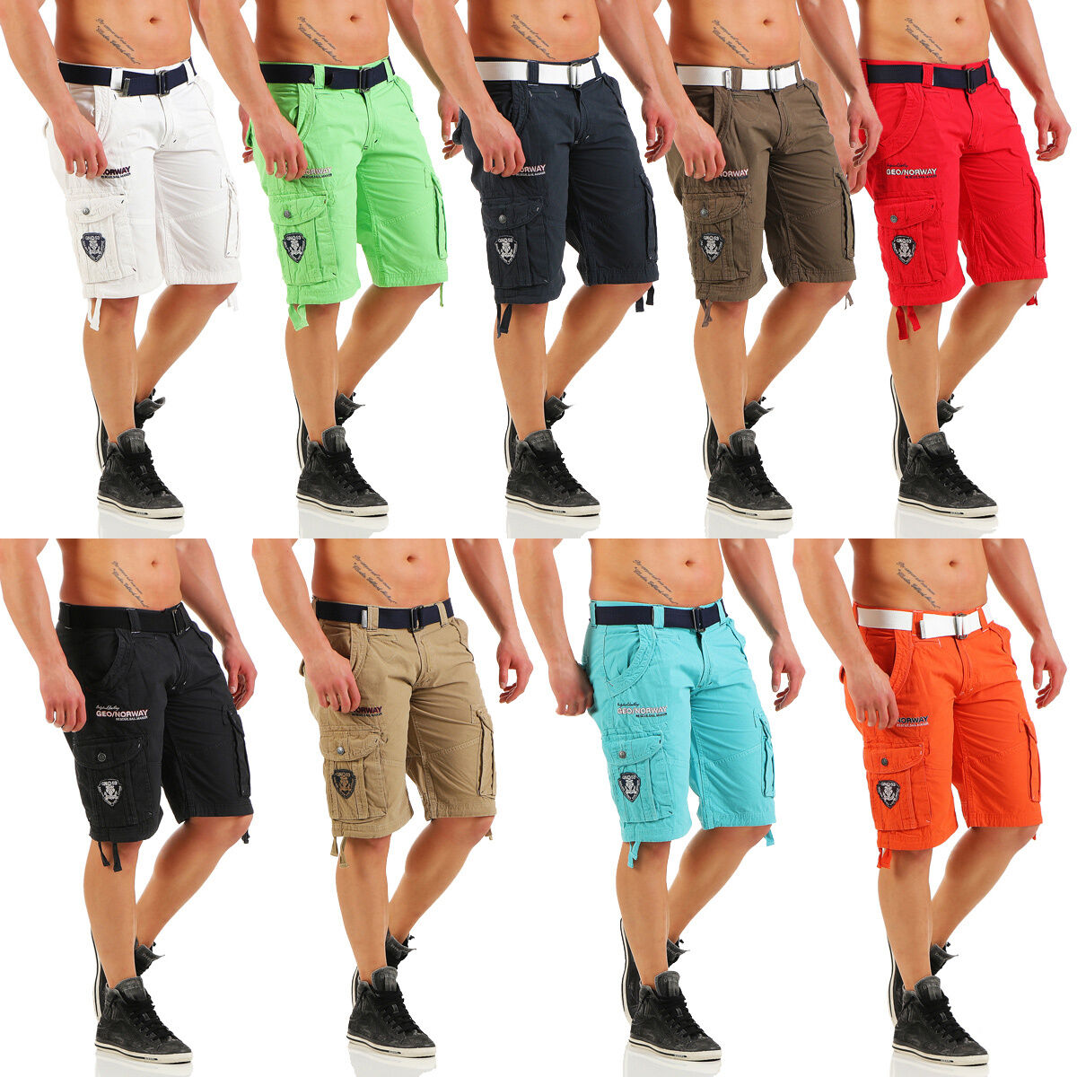 Geographical Norway Poudre short Summer Cargo short Men's Bermuda Shorts
