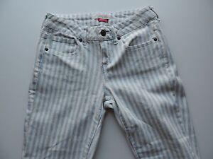 Women-039-s-Forever-21-I-love-H81-Blue-amp-White-Striped-Skinny-Jeans-Size-24