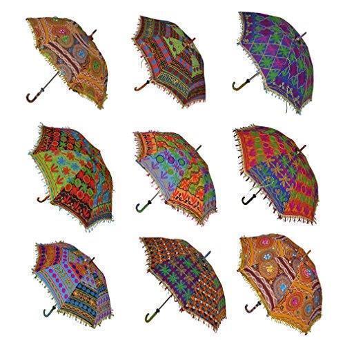 Wholesale 10 PC lot Traditional Indian Decorative Sun Umbrella Parasol Bohemian