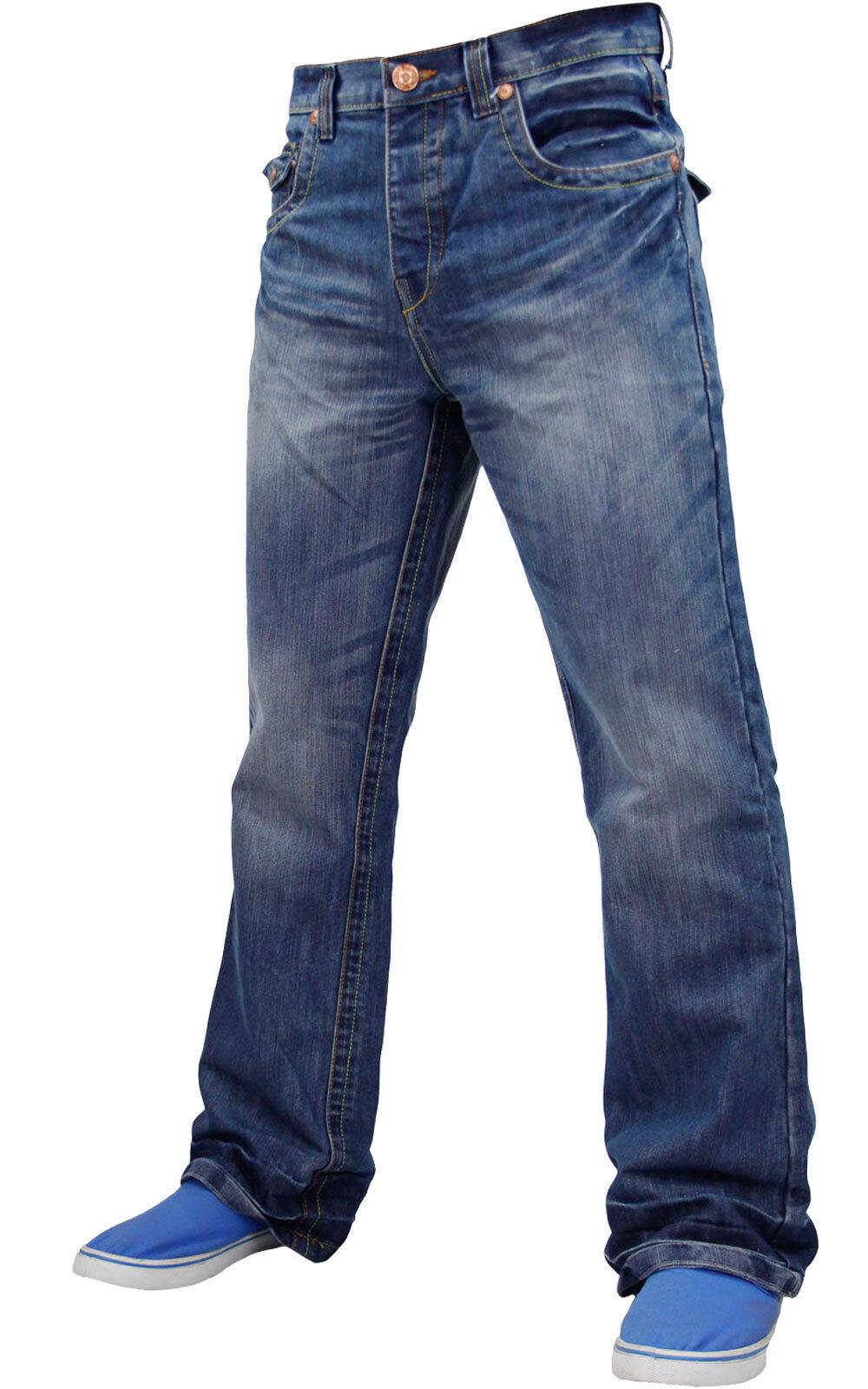 Mens Boys APT Designer Boot Cut Denim Jeans Trousers Light ... - photo#20