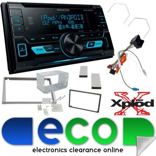 Vauxhall Antara 2006-2010 Kenwood CD AUX MP3 USB Car Stereo /& Silver Fascia Kit