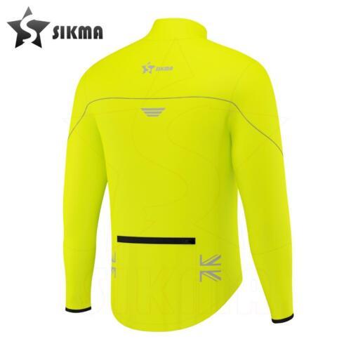 Mens Cycling Jacket High Visibility Waterproof Running Top Rain Coat S to 2XL