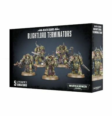 Death Guard Blightlord Terminators Nurgle Chaos Space Marines Warhammer 40k NEW