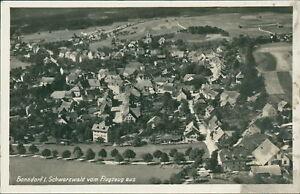Ansichtskarte Bonndorf Schwarzwald vom Flugzeug aus  (Nr.717) -II