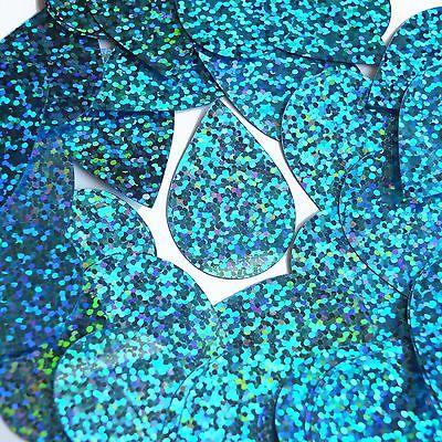 Zwierig Aqua Blue Sequin Teardrop Glitter Hologram 1.5 Inch Couture Paillettes Redelijke Prijs