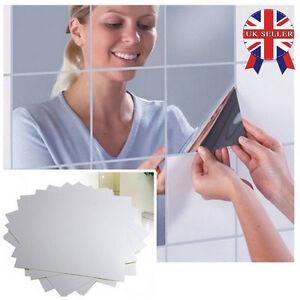 16-32-48pc-Mirror-Tile-Wall-Sticker-Square-Self-Adhesive-Room-Decor-Stick-On-Art