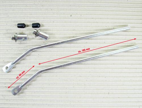 Alu silber PLETSCHER GEPÄCKTRÄGER BEFESTIGUNG SET VARIO 66//185 mm 155°