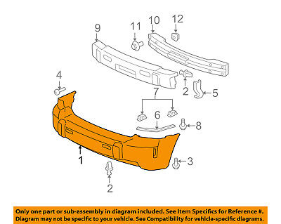 REAR BUMPER COVER FITS ALL MODELS EXCEPT SS FOR 06 11 CHEVROLET HHR GM1100741