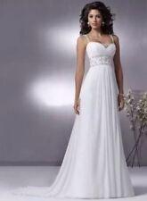 UK New White/Ivory Chiffon Wedding Dress Bridal Gown Size 6-16