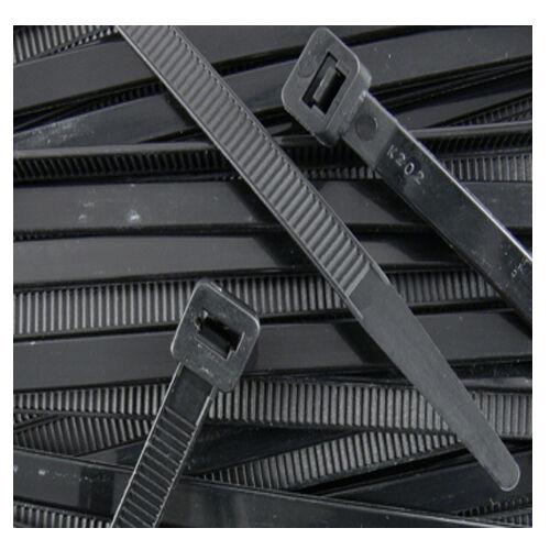 "2000 PCS 11/"" 50 Lbs Black Nylon Cable Wire Zip Tie UV Resistant Outdoor Ties"