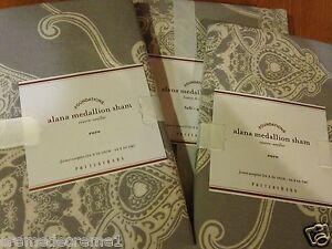 Pottery Barn Alana Medallion Euro Sham Nwts Gray Ebay