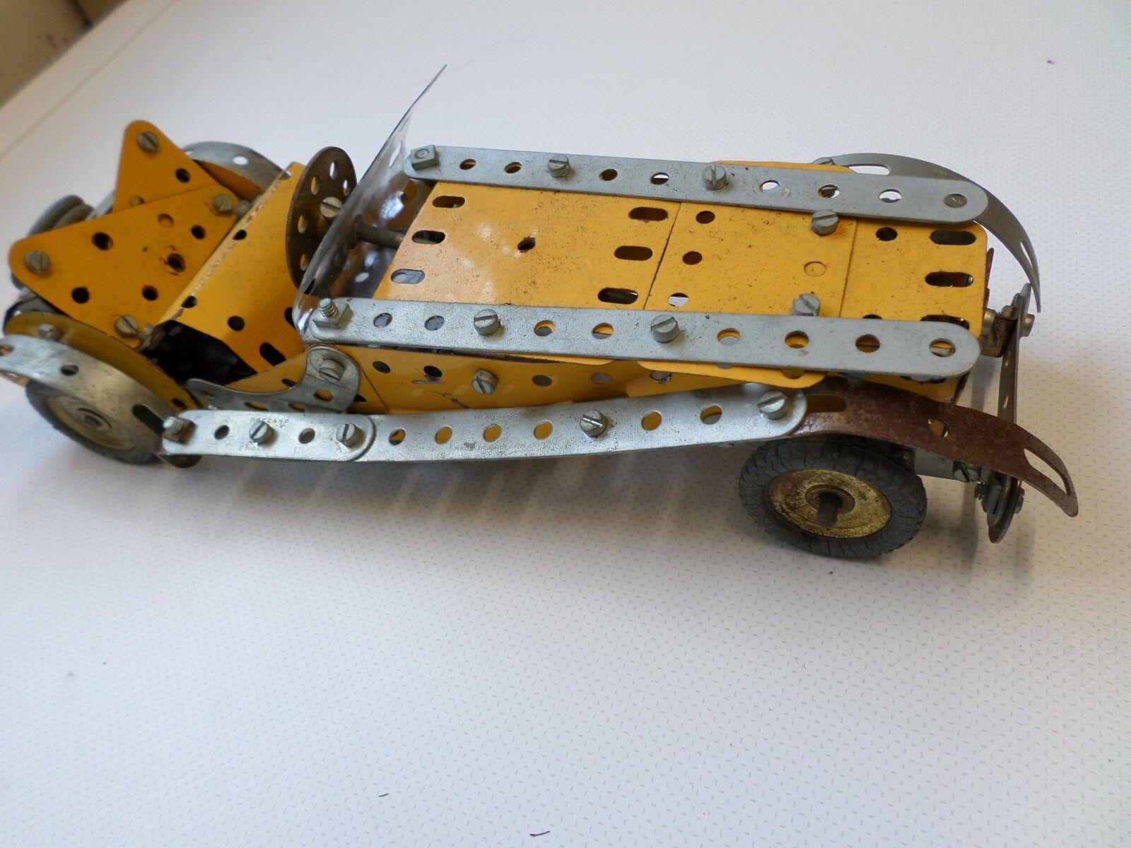 Meccano construction kit sports car
