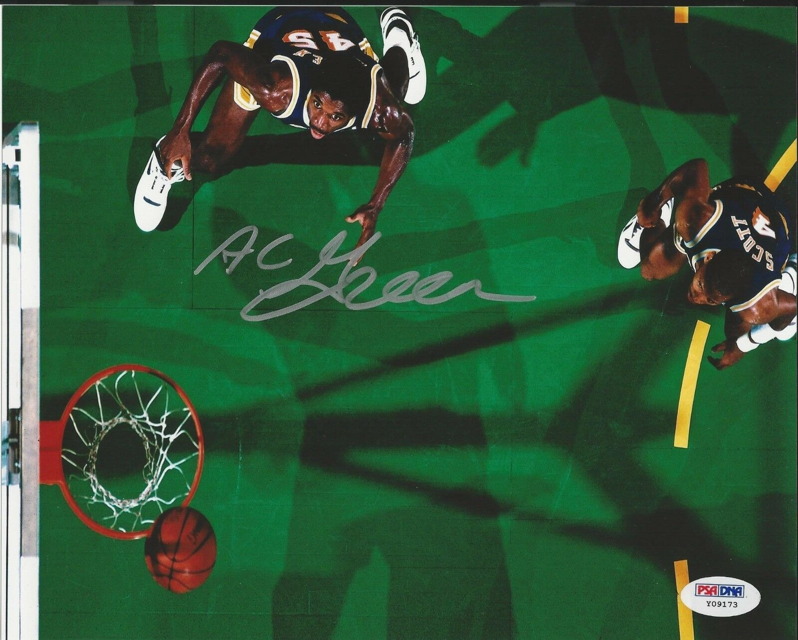Ac Green LA Lakers Signed 8x10 Photo PSA/DNA # Y09173