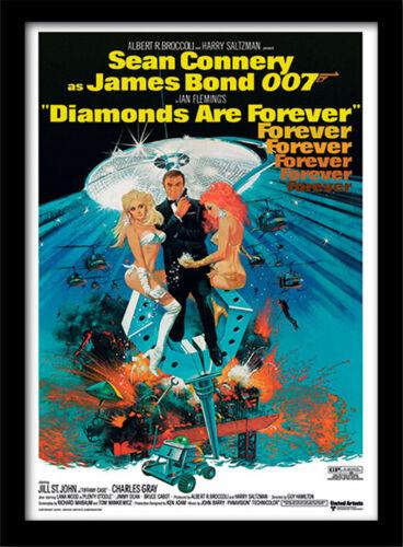 James Bond Diamonds Are Forever 2 Framed 30 x 40 Official Print
