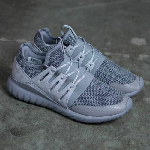 separation shoes cd456 6685d ADIDAS ORIGINALS TUBULAR RADIAL CHARCOAL SOLID GREY MEN S SNEAKERS S76718