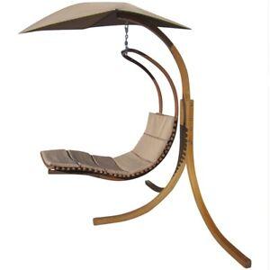 Das Bild Wird Geladen  DESIGN Haengesesselgestell NAVASSA Aus Holz Komplett Mit Haengeliege