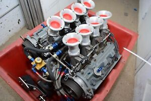 Toyota TRD V8 Crate Drag Race Engine 680hp 0 passes 3 Stage Dry Nitrous Plumbed