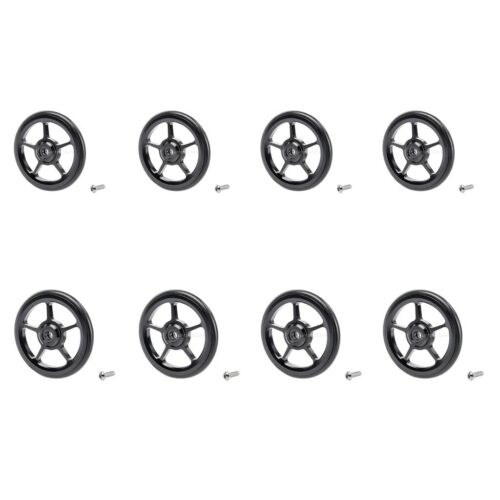 8x Bike Easy Wheels Folding Replacement for Brompton Modified Parts Black
