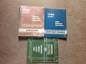 1980 gmc caballero service shop repair manual set w unit. Black Bedroom Furniture Sets. Home Design Ideas