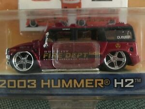 Jada-Toys-Dub-City-2003-Hummer-H2-Fire-Department-New-in-Package-2004