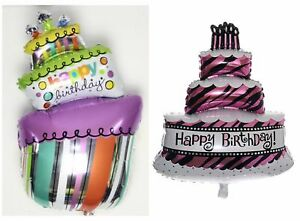 Fabulous Happy Birthday Cake Helium Foil Balloon Large Balloons Ballon Kids Personalised Birthday Cards Arneslily Jamesorg