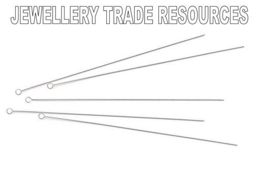 Medio Alambre de abalorios Agujas Encordar Roscadoras Perlas Y Perlas 0,36 mm Pack De 5